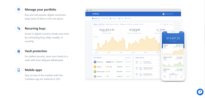 what coinbase has to offer