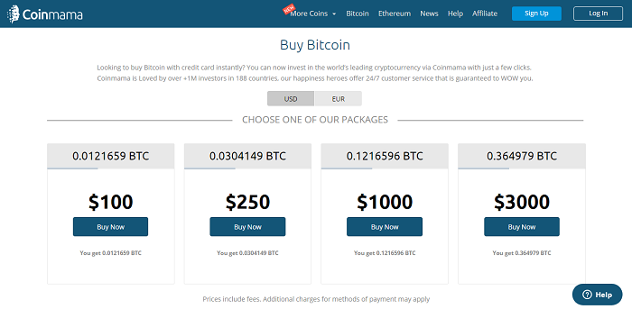 price list for bitcoin and ethereum