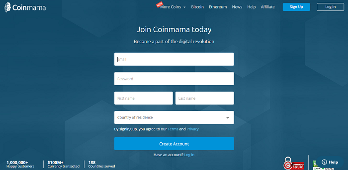 coinmama registration form