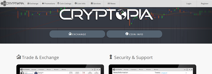 cryptopia front page